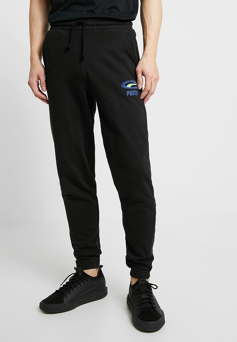 Puma - PANTS CROPPED CELL - Tracksuit bottoms - black