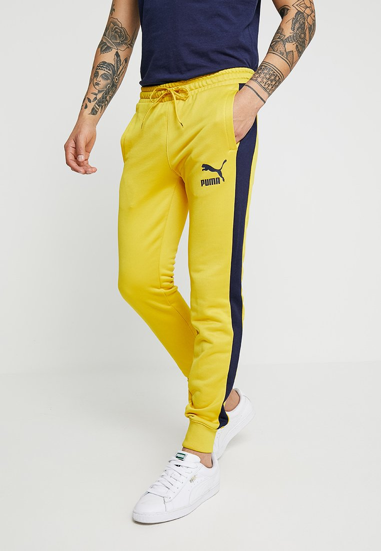 Puma - ICONIC TRACK PANT CUFF - Tracksuit bottoms - sulphur