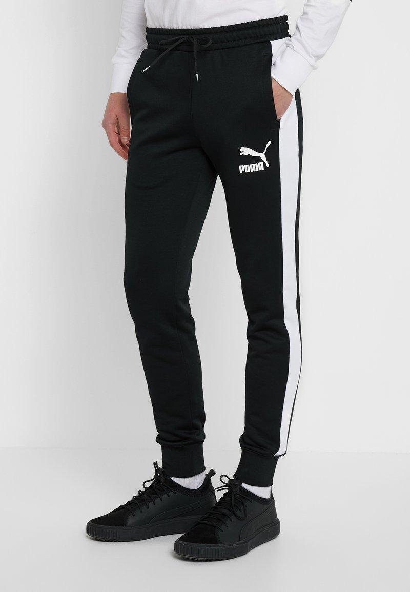 Puma - ICONIC TRACK PANT CUFF - Pantalon de survêtement - black