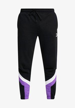 ICONIC TRACK PANT MIX - Pantalon de survêtement - black
