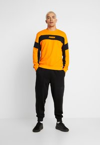 Puma - HEAVY CLASSICS PANTS - Tracksuit bottoms - black - 1