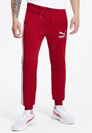 PUMA ICONIC T7 KNITTED MEN'S TRACK PANTS MALE - Tracksuit bottoms - high risk red