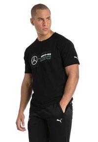 Puma - AMG PETRONAS - T-shirt con stampa - black - 1