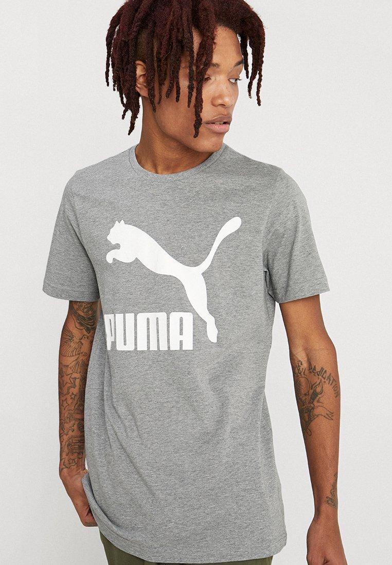 Puma - CLASSICS LOGO TEE - T-shirts print - medium gray heather