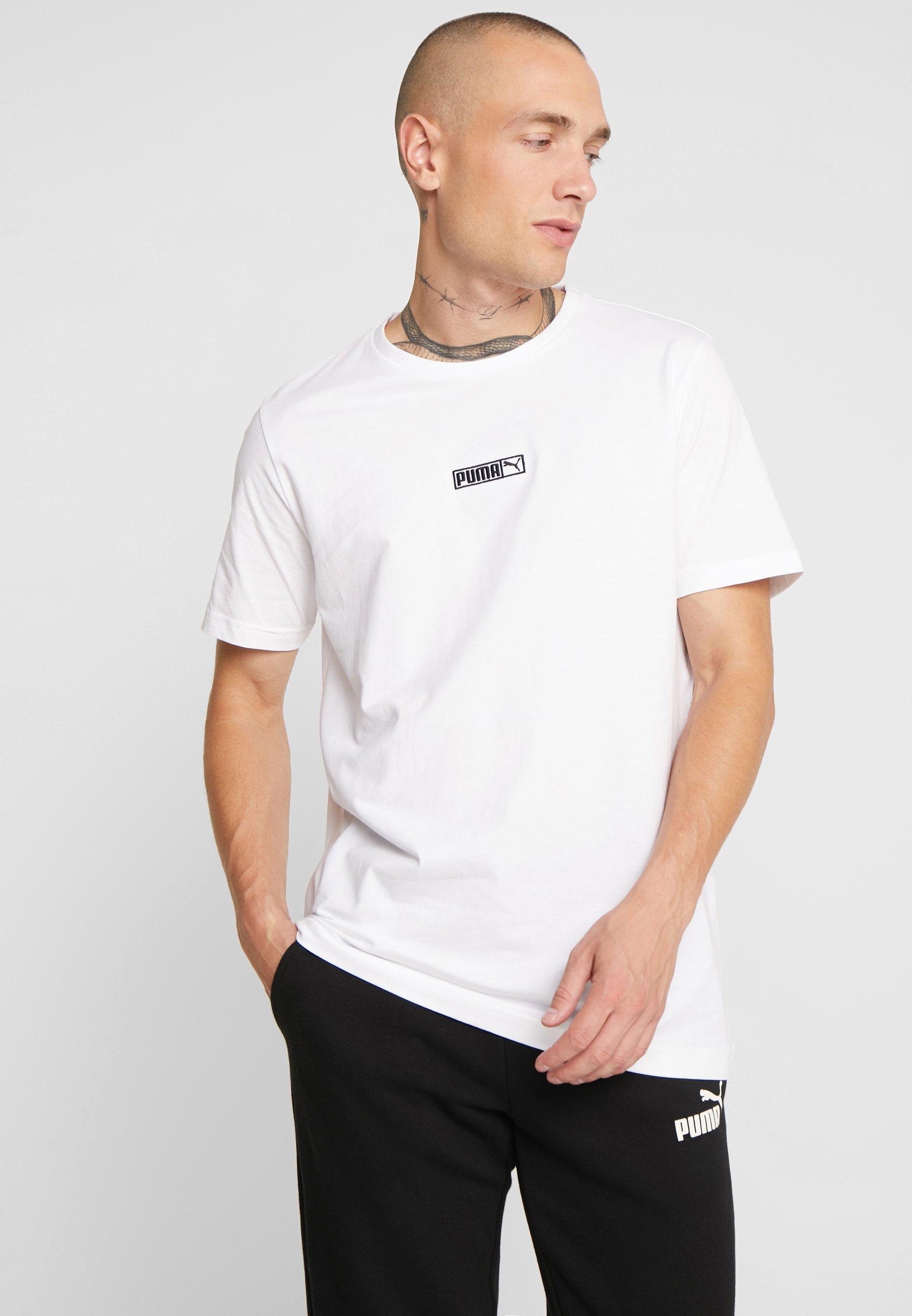 shirt Basique TeeT Puma Classics Logo White wkXlOTPiZu
