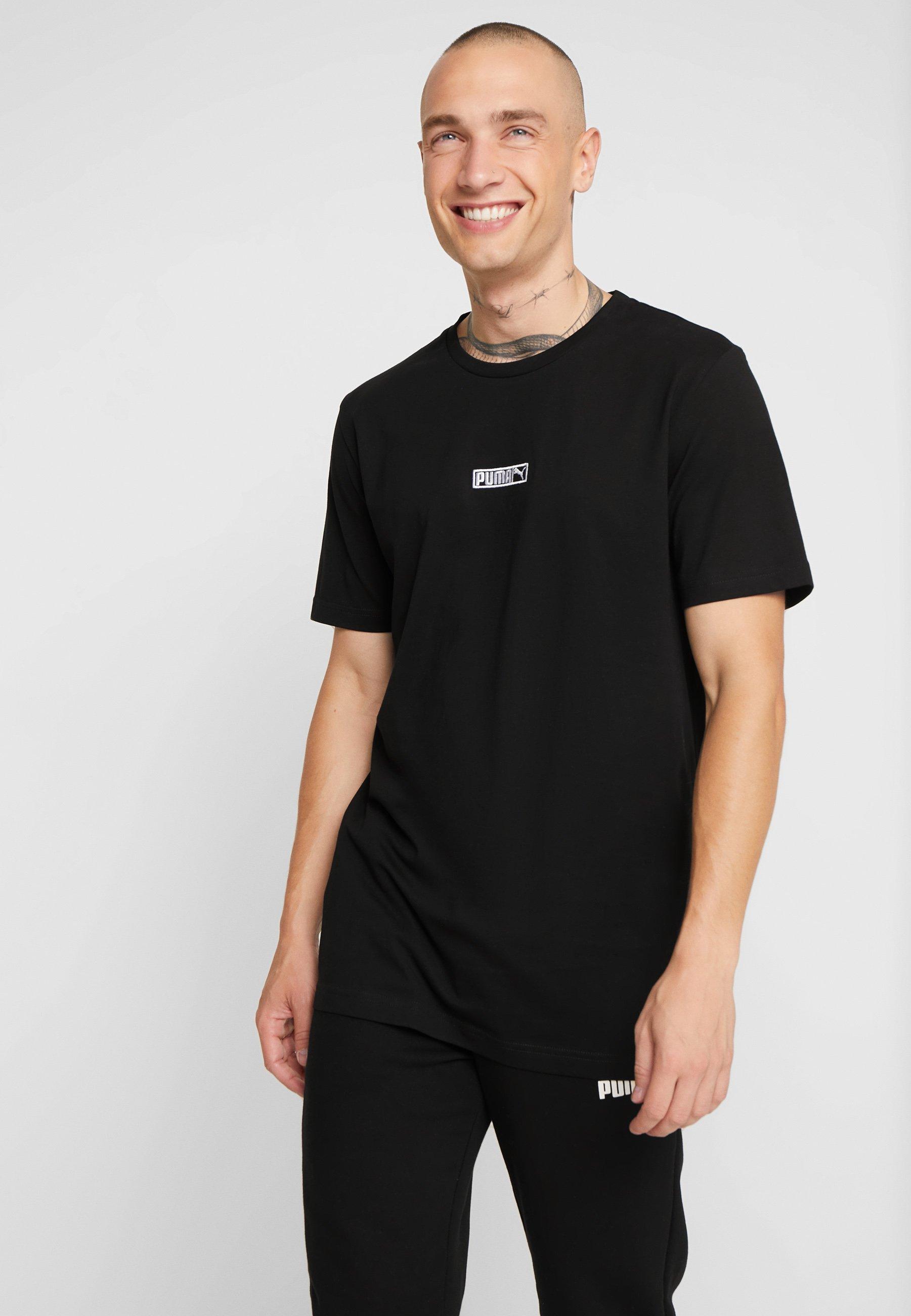 Classics Black Basique Puma TeeT shirt Logo Nnk8OZ0wPX