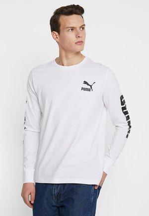 CLASSICS LOGO TEE - T-shirt à manches longues - white