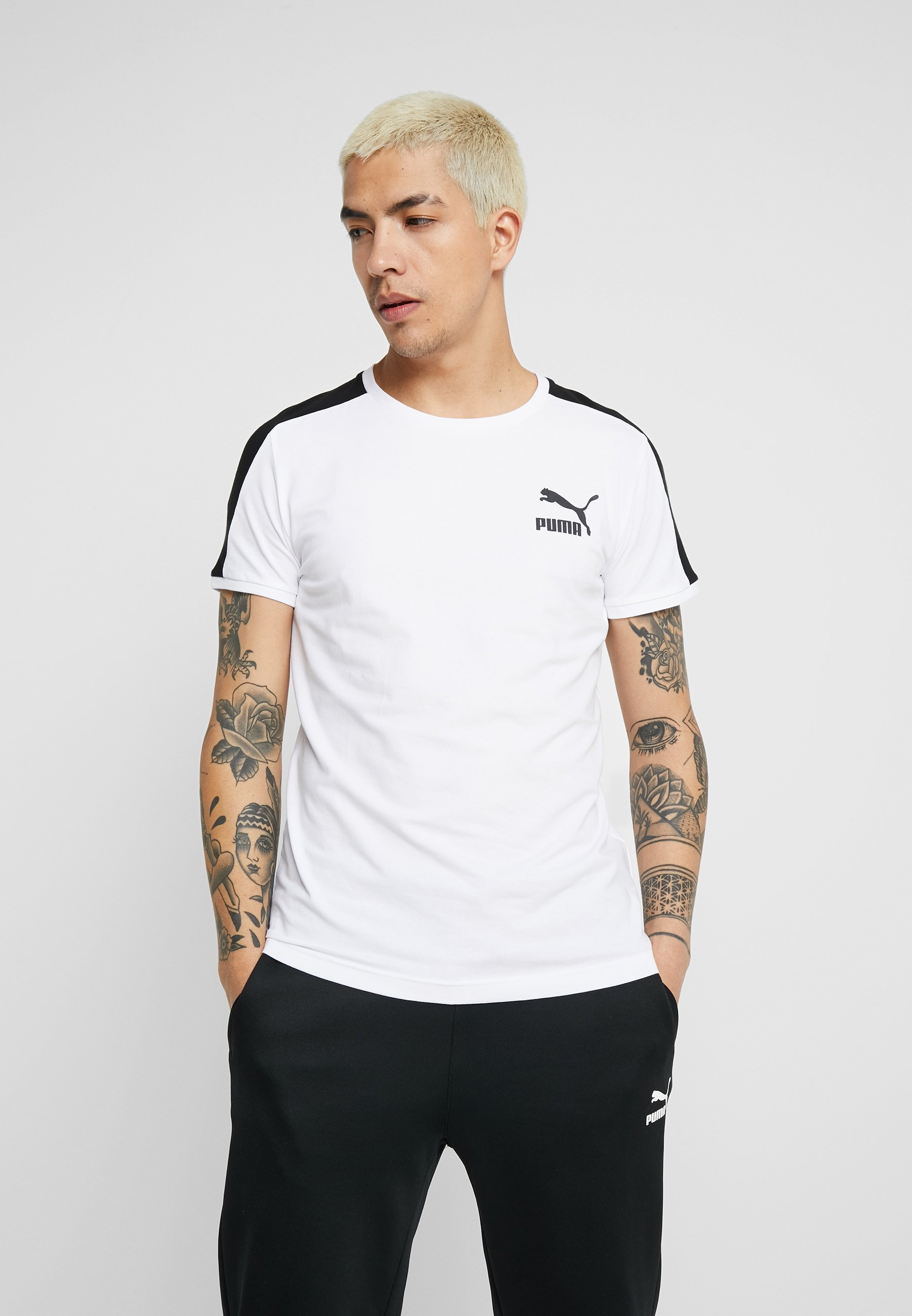Iconic Tee FitT Puma Slim Imprimé White shirt H2YE9WDI