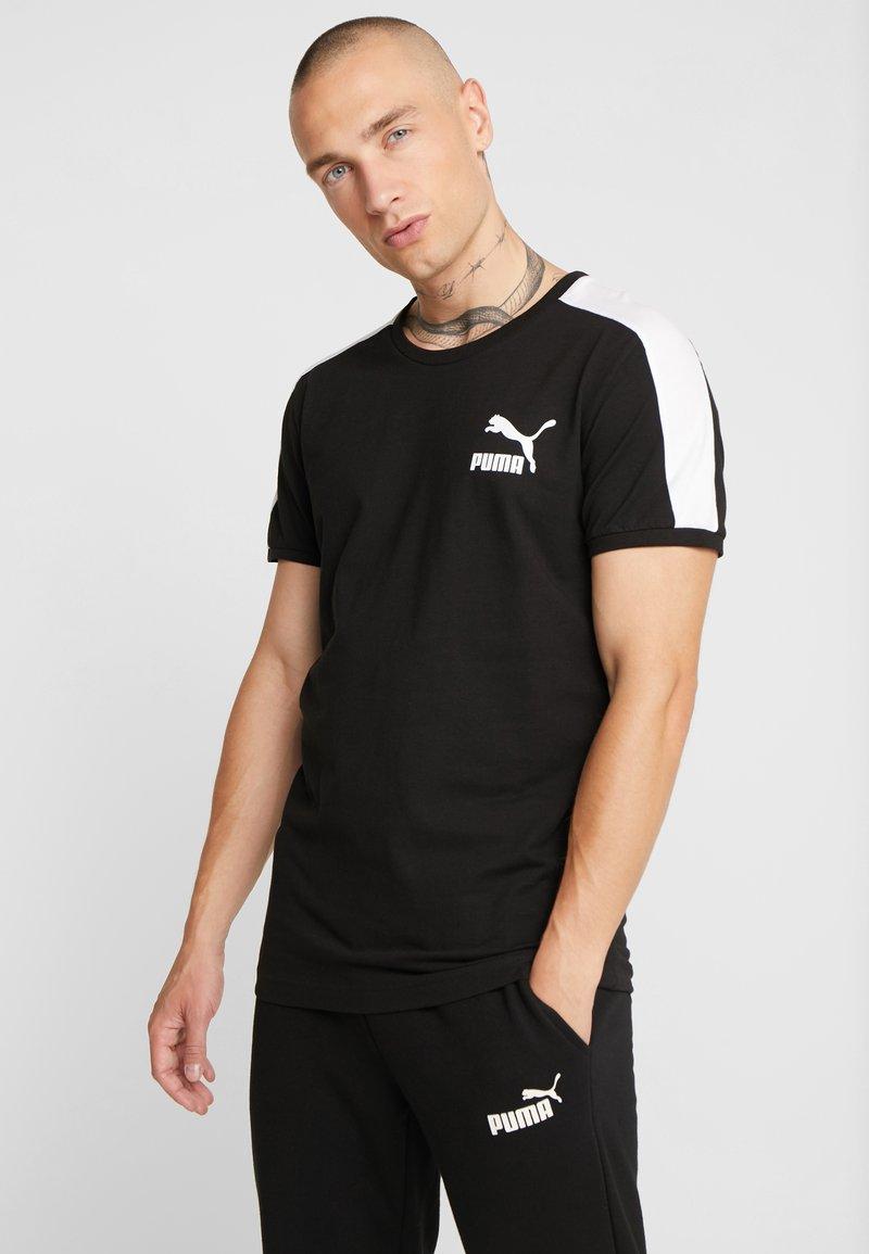 Puma - ICONIC TEE SLIM FIT - T-Shirt print - black