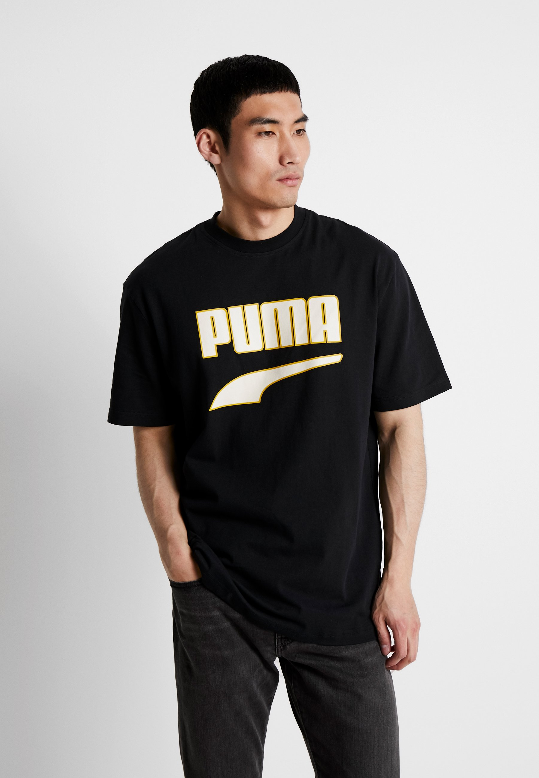 Black Imprimé Downtown TeeT Puma Graphic shirt dCBrxoe