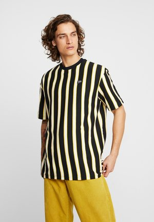 DOWNTOWN STRIPE TEE - T-shirt imprimé - black