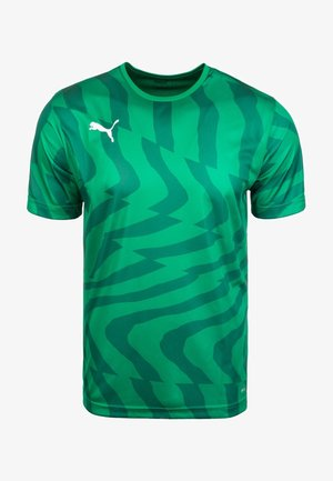 CUP CORE - Print T-shirt - pepper green /white