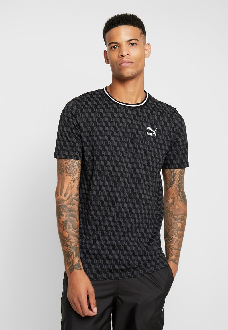 Puma - LUXE PACK TEE - T-shirt print - black