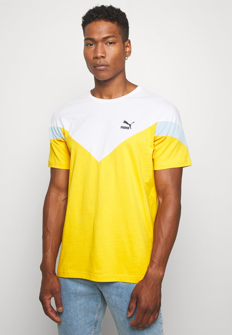 Puma - ICONIC TEE - T-shirt imprimé - golden rod