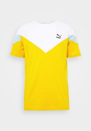 ICONIC TEE - Print T-shirt - golden rod