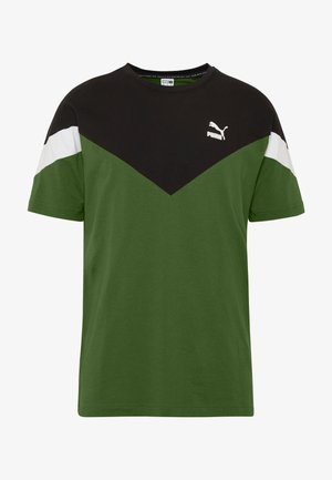ICONIC TEE - T-shirts med print - dark olive
