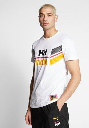 X HELLY HANSEN TEE - T-shirt imprimé - white