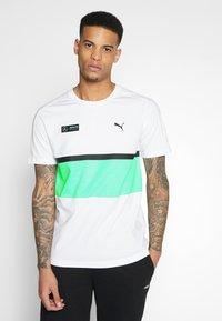 Puma - AMG TEE - Print T-shirt - white - 0