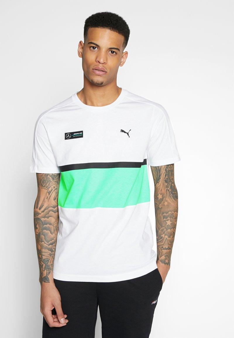Puma - AMG TEE - Print T-shirt - white
