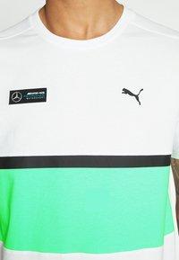 Puma - AMG TEE - Print T-shirt - white - 4