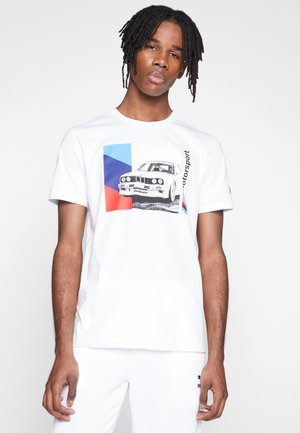 BMW GRAPHIC TEE - T-Shirt print - puma white