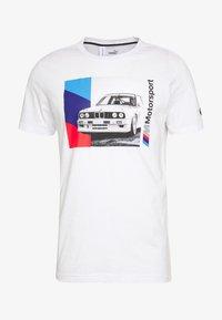 Puma - BMW GRAPHIC TEE - Print T-shirt - puma white - 4