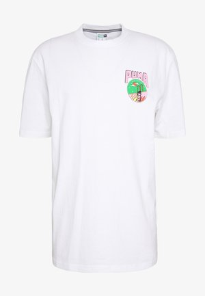 DOWNTOWN GRAPHIC TEE - T-shirt med print - white