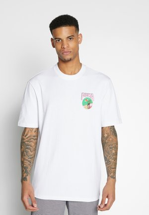 DOWNTOWN GRAPHIC TEE - T-Shirt print - white