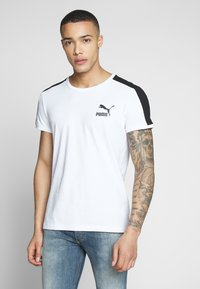 Puma - ICONIC - Print T-shirt - white - 0