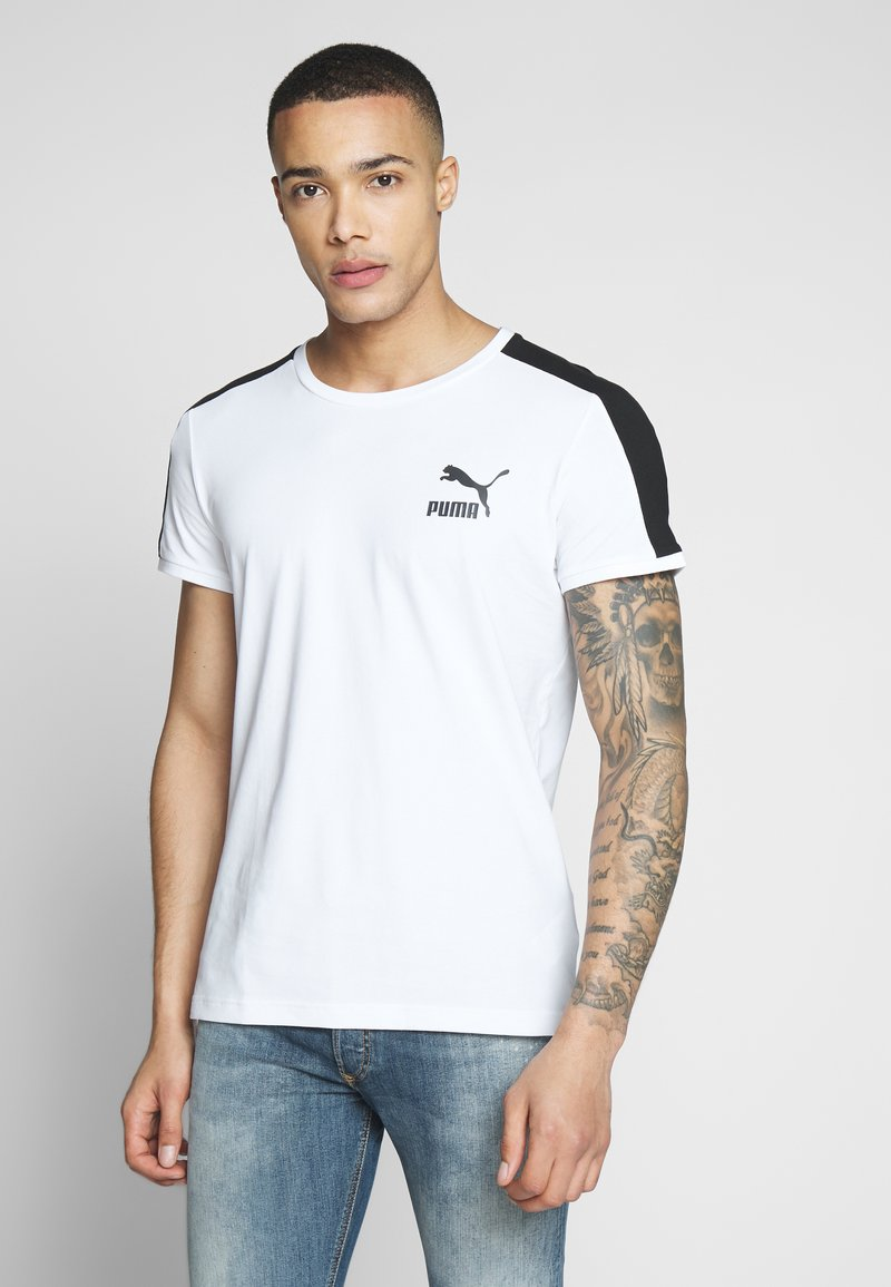 Puma - ICONIC - Print T-shirt - white