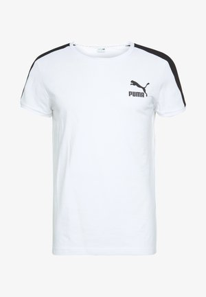 ICONIC SLIM TEE - T-shirt imprimé - white