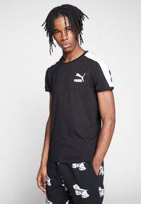 Puma - ICONIC - Print T-shirt - puma black - 0