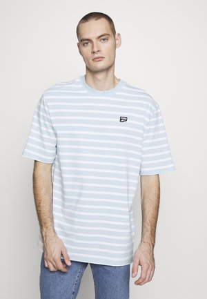 DOWNTOWN STRIPED TEE - T-shirt print - aquamarine