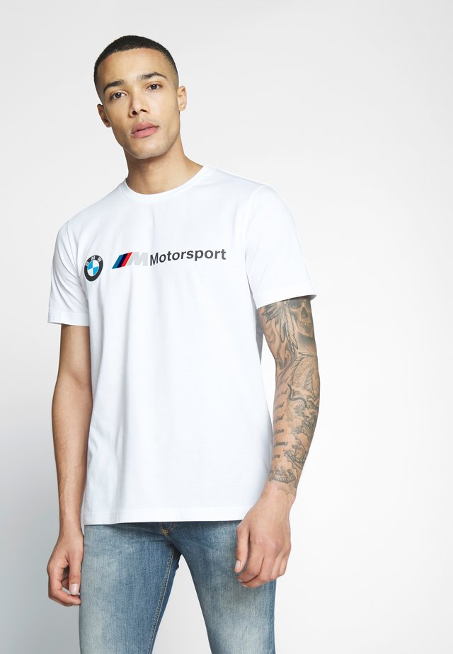 BMW MMS LOGO TEE - T-Shirt print - puma white