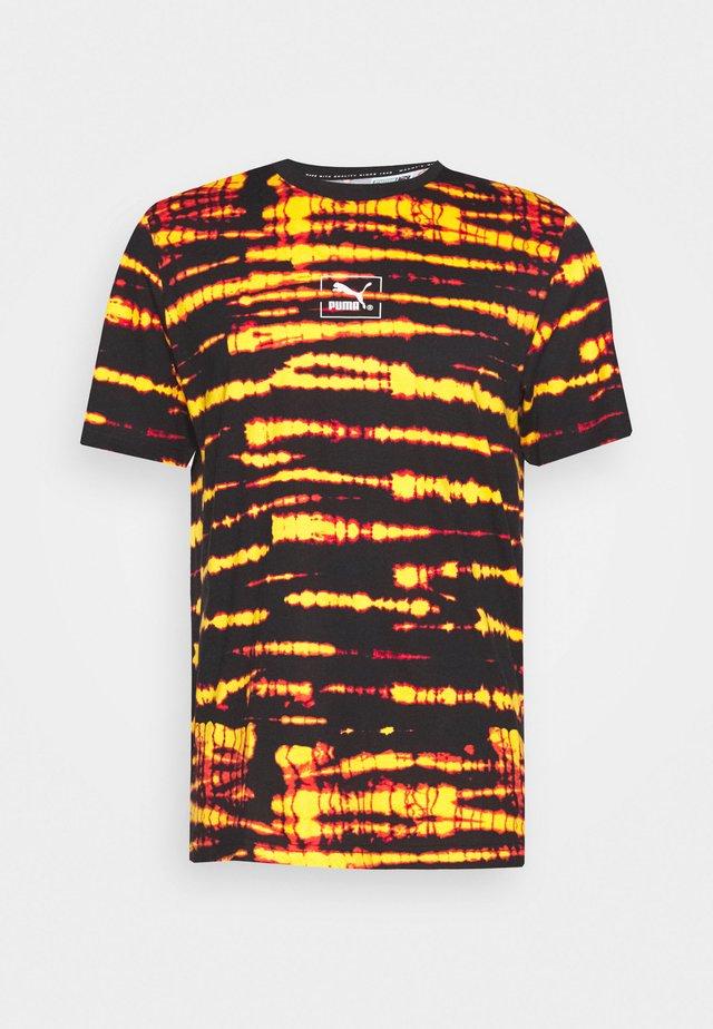 TIE DYE TEE - T-shirt imprimé - black