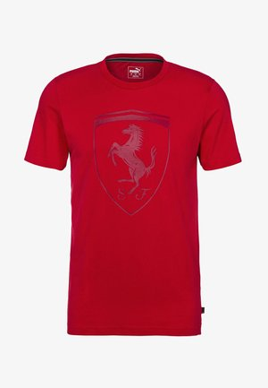 FERRARI - T-shirt con stampa - racing red