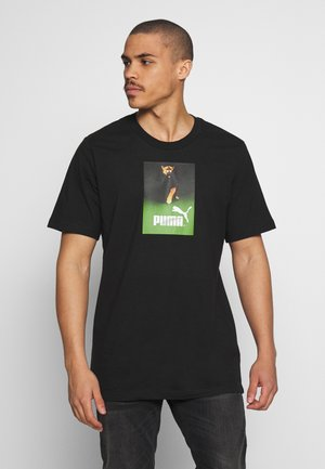 RETRO AD GRAPHIC TEE - Triko s potiskem - black