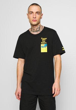 RETRO AD GRAPHIC TEE - T-shirt imprimé - black