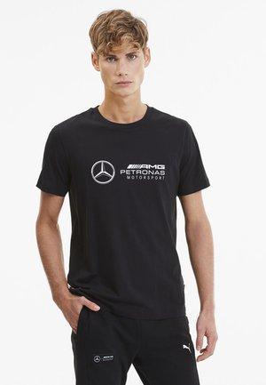 PUMA LOGO TEE - Print T-shirt - black