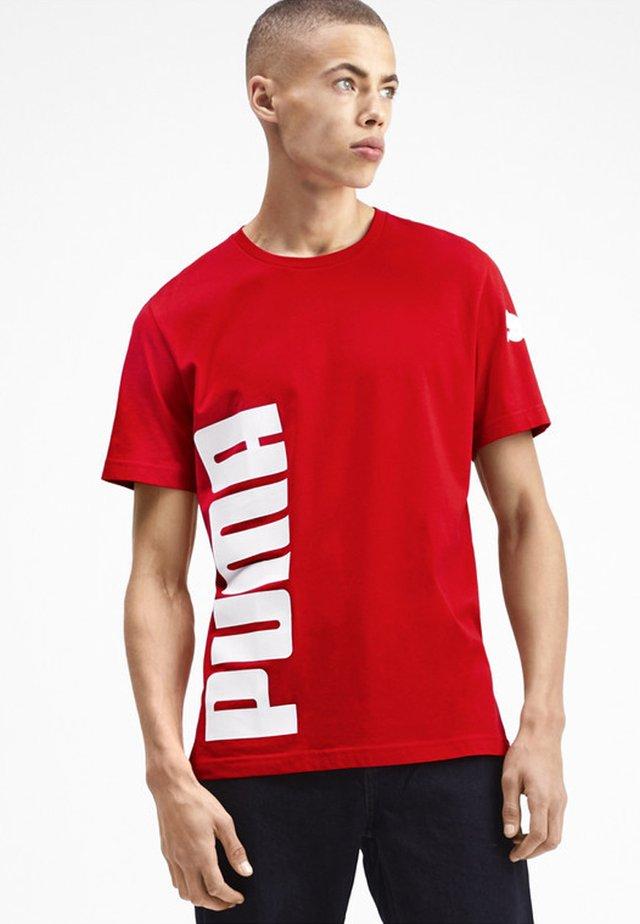 SHORT SLEEVE - T-shirt imprimé - high risk red