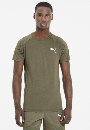 T-shirt imprimé - burnt olive