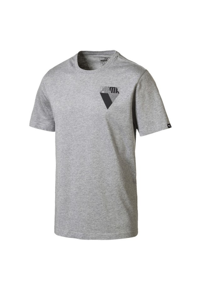 PUMA MEN'S GRAPHIC BRAND TEE MÄNNER - T-shirt imprimé - medium gray heather
