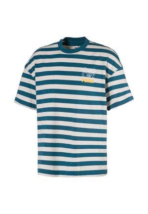 BRETON  - Print T-shirt - blue coral-dove