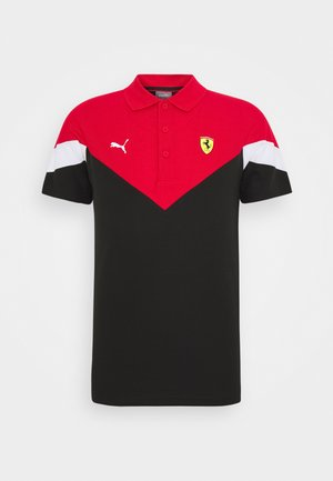 FERRARI RACE  - Polo shirt - black/rosso