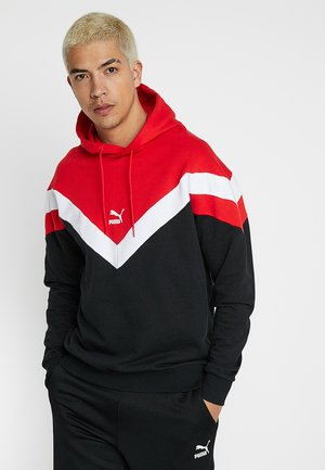 ICONIC HOODY - Hoodie - black/red combo