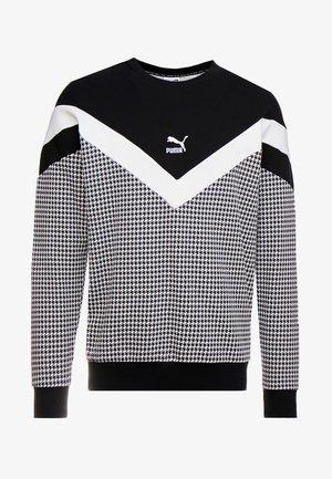 TREND  CREW - Sweatshirt -  black-houndstooth
