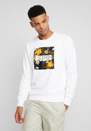 TREND GRAPHIC CREW - Sweater - white