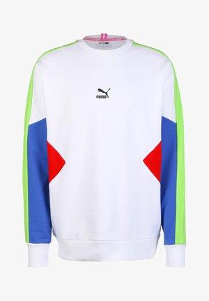 Sweatshirt - white/dazzling blue