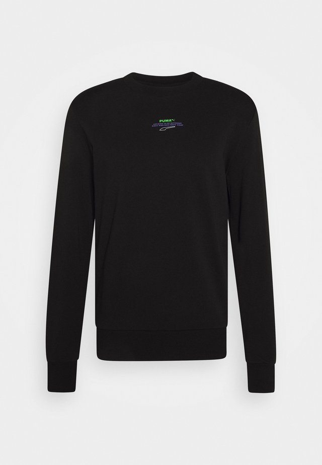AVENIR GRAPHIC CREW - Sudadera - black/fluo green