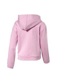 Puma - PUMA ALPHA HOODED GIRLS' SWEAT JACKET FLICKA - Zip-up hoodie - pale pink - 1